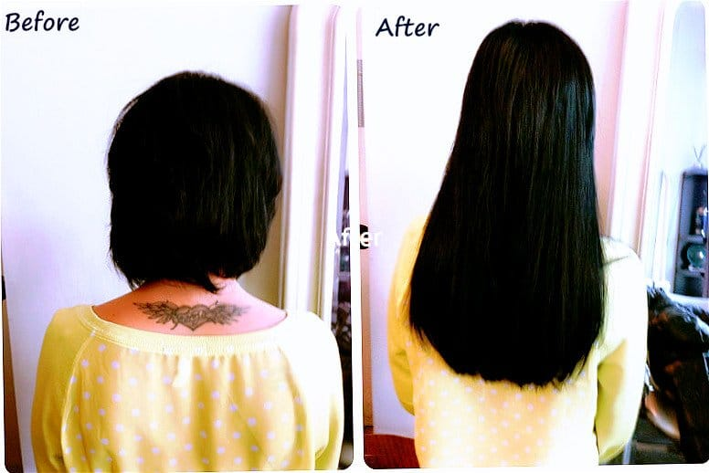 Hair extensions for short Hair Applied in Chicago by Areta at http://www.chicagohairextensionssalon.com/
