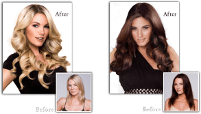 Ask about Hotheads hair extensions, available at our salon in Chicago