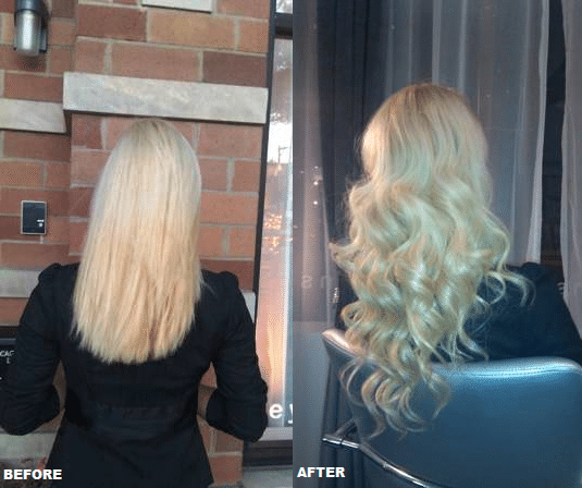 We apply 100% real human hair extensions thru a variety of methods