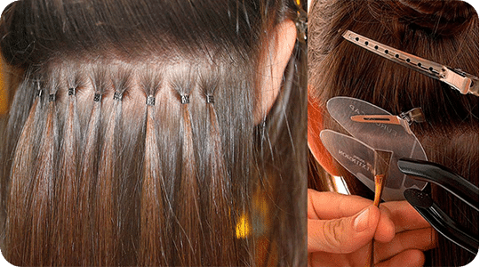 removal of hair extensions