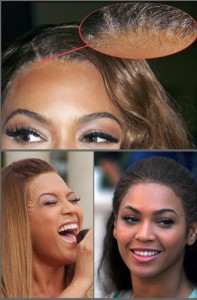 Beyonce Hair Extensions - Lace Front is Visible
