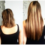 Before & After Hair Extension